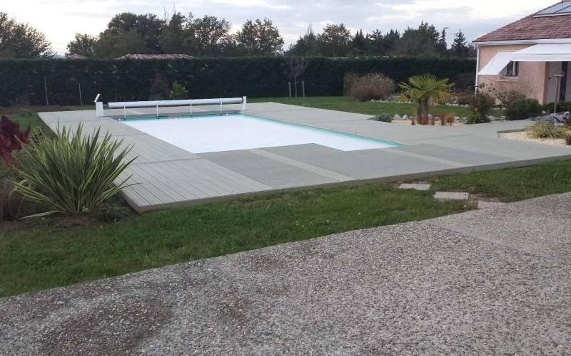 Concept bois pvc | Plage de piscine composite